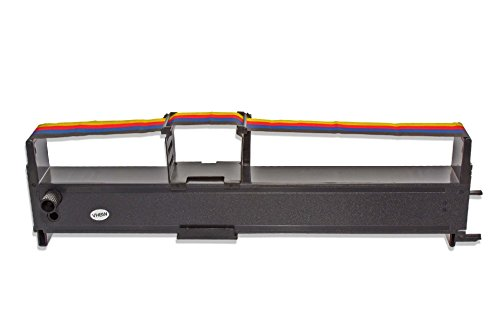 vhbw Cinta de Color, Cinta de Nylon, Cinta de Tinta para Impresora matricial de Puntos Compatible con Epson LX850, M3210, M3310, M90, MX70.