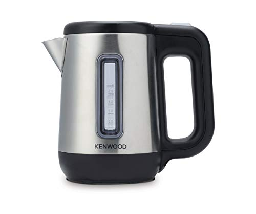 Kenwood JKM076 - Hervidor de agua electrico para viaje, 670 - 800 W, 0.5 L de capacidad, apagado auomatico, tapa de seguridad, negro/plata
