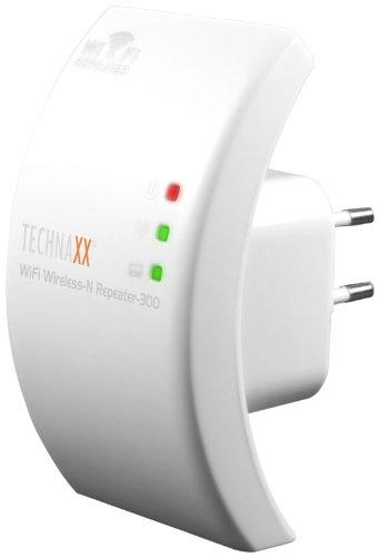 Technaxx WiFi Wireless-N Repeater 300 WLAN Verstärker External Power Adaptors weiß