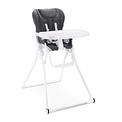 Joovy Nook Nb High Chair, Reclinable Seat, Compact Fold, Swing Open Tray, Jet (2207)