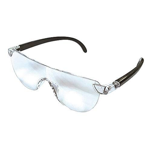 ルーペ眼鏡 UVカット ルーペ 拡大鏡 1.3倍 ブルーライトカット メガネ メガネ型ルーペ お手入れクロス ポーチ付き