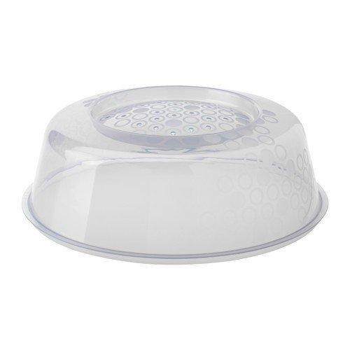 Ikea Prickig Couvercle pour Micro-Ondes en Gris (26 cm), Blanc.