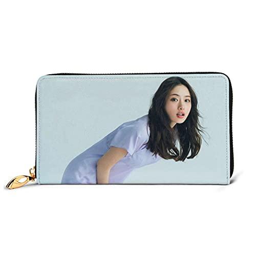 いしはらさとみ (3) おしゃれプリント ウォレット 大容量 手提げ袋 多機能 耐久良い 小銭入れ 本革 牛革の財布 携帯に便利です 男女兼用 ゃれ レザー