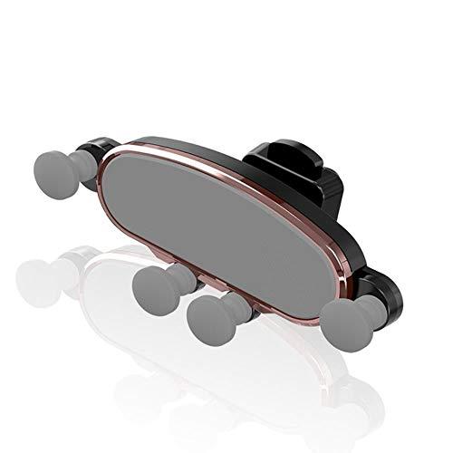 Autotelefoonhouder, universele telefoonhouder, zwaartekracht, auto-telefoonhouder voor iPhone X Xs Max Samsung S10 in Auto Air Vent-houder auto houders voor Xiaomi Huawei mobiele telefoon staan, Rose electroplate.