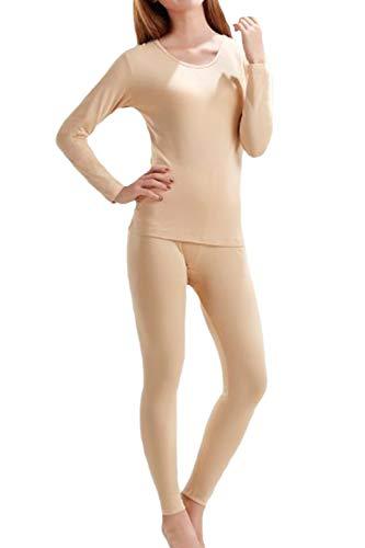 Conjunto De Jhons Largos con Forro Polar Ropa Interior Térmica Ultra Suave para Mujer