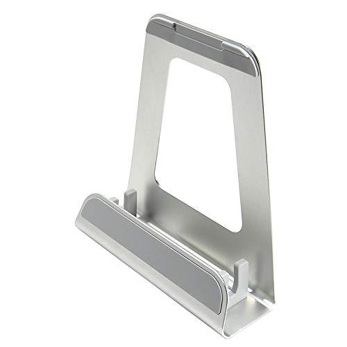 N-O Soporte para computadora portátil Base de enfriamiento de aleación de Aluminio Soporte de elevación Universal Escritorio portátil Protección Simple Columna Cervical-Plata