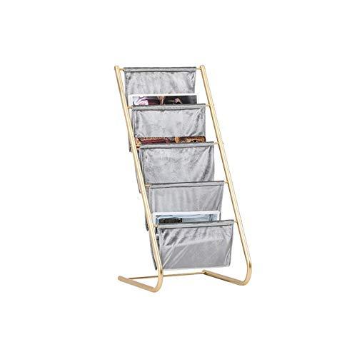 Revistero de Pie Piso Magazine Rack Bolsa de almacenamiento en rack de información móvil estante de exhibición de Inicio sofá de la esquina Estantería de almacenamiento de almacenamiento de múltiples