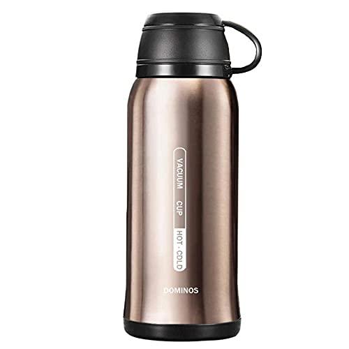 CAIYAH Taza deportiva de doble capa taza de acero inoxidable botella de agua potable reutilizable adecuada para niños y adultos deportes al aire libre y fitness Dorado