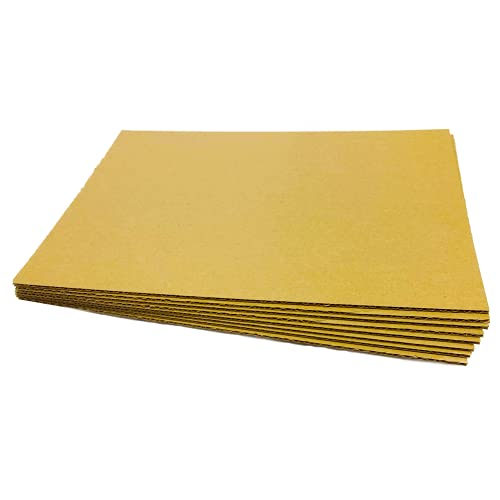 Pack of 25 - 297 x 210 mm A4 Size Single Wall 3mm-Thick Corrugated Cardboard Sheets Kraft Art Board Packing Cardboard Inserts by The Packing Box