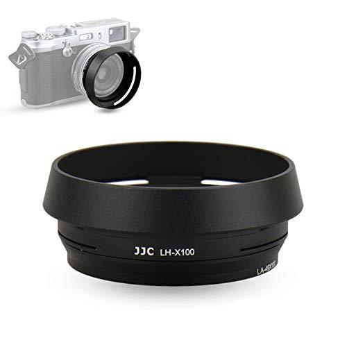 JJC メタル レンズフード ねじ込む式 富士フィルムFujifilm Fuji X100V X100F X100T X100S X100 X70 に対応 LH-X100 フード & AR-X100 アダプタ 互換 黒い