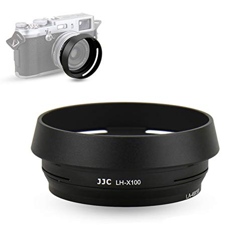 JJC Metal Lens Hood Shade Protector with 49mm Filter Adapter Ring for...