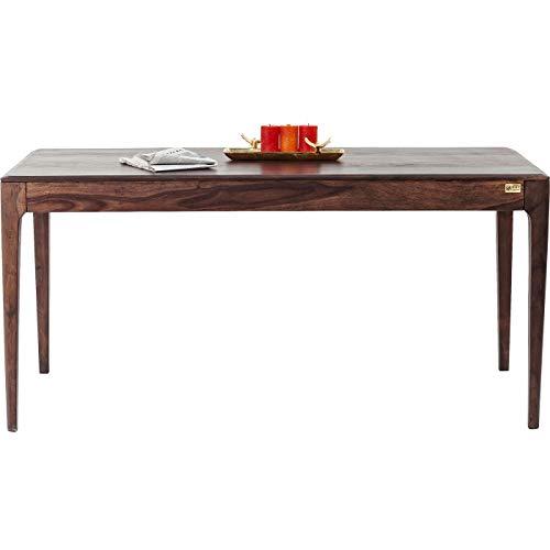 Kare Design Tisch Brooklyn Walnut, Esszimmertisch aus Massivem Sheesham-Holz, Holztisch, Massivholztisch, Dunkelbraun gebeizter Esstisch, (H/B/T) 76x200x100cm