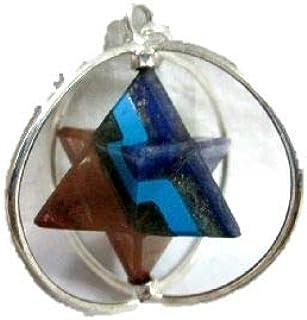 Jet Chakra Star Spinning Merkaba Pendant Sacred Geometry Platonic Solid Healing Genuine Crystal Metaphysical Spiritual Cha...