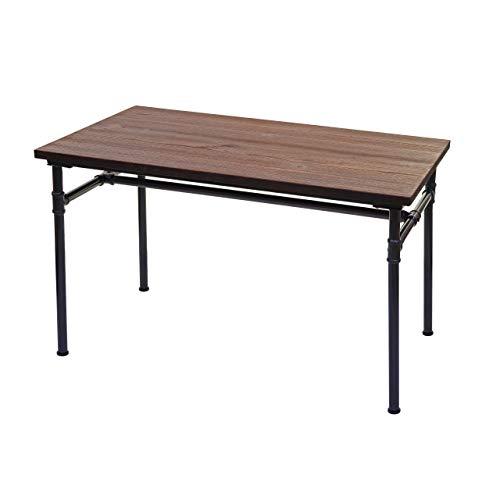 Esstisch HWC-H10b, Tisch Bistrotisch, Metall Ulme Holz Industrial Gastronomie FSC schwarz-braun 120x70cm