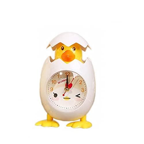 sevenjuly Wecker Cartoon-Huhn-Ei-Shell Wecker Desktop Clock Wecker Für Kinder Geschenk-hauptdekor-weiß