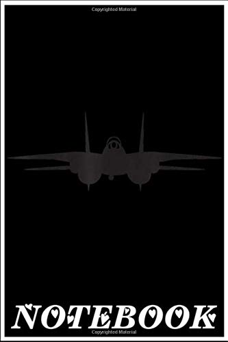 Notebook: F-14 Tomcat Silhouette T- notebook 100 pages 6x9 inch by Hphuc Dongday