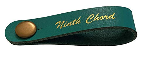 Ninth Chord Guitar Strap Tie (Turquoise) Secure Lock Wraparound Strap Adapter Acoustic