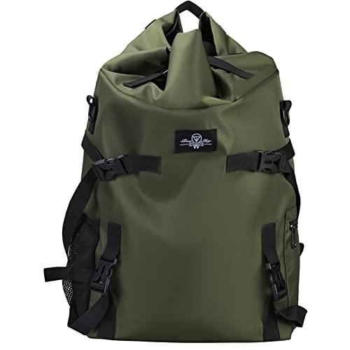 FireH Mochila Personalizada de la Mujer for Hombre for Hombres for Caminar Bolsa de Viaje Camping (Color : Green, Size : One Size)