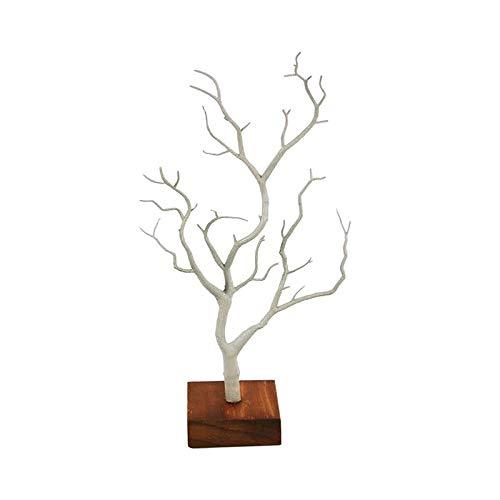 Hellery Soporte de joyería-Soporte de joyería de árbol Estante de exhibición Collar de Pendientes Soporte de Anillo Organizador Color: Blanco