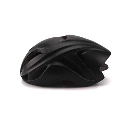 LIUDATOU Casco da Corsa Triathlon Aero Casco Ciclismo Adulte City MTB Mountain Casco Evade Safety TT Ciclismo 2019, Nero 2