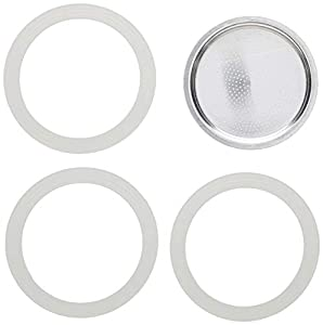 Bialetti - Repuesto de junta de goma para filtro de cafetera, 9 tazas, moka