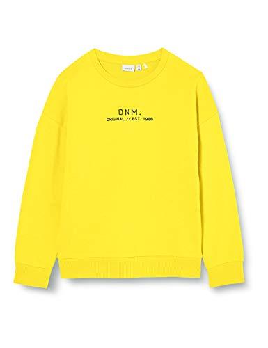 NAME IT Jungen NKMBASIM LS SWEAT UNB Sweatshirt, Gelb (Empire Yellow), 116