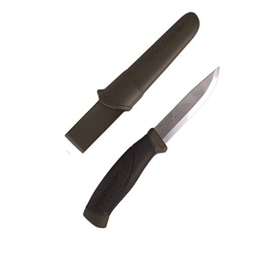 Schwedisches MORA Messer Stainless Steel Gummigriff ARMY + AOS-Outdoor® Flaschenöffner