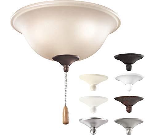 Kichler 338508MUL, Umber Etched Glass Bowl Light Kit
