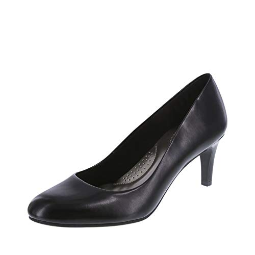 dexflex Comfort Women's Smooth Black Women's Karma Round-Toe Pump 5.5 Regular