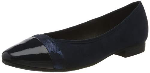 Jana Softline 8-8-22165-24, Ballerines Femme, Bleu (Navy 805), 41 EU