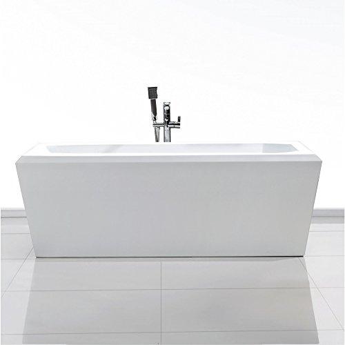 Freistehende Badewanne aus durchgefärbtem, hochwertigem Sanitär Acryl Modell: D-8068 weiß