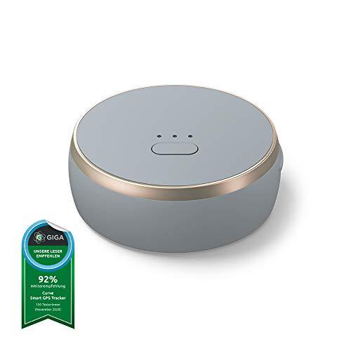 Curve smarter GPS-Tracker mit integrierter smart SIM, Leichter Tracker für Taschen, Hunde, Auto, Laptop, Schlüssel, keine monatlichen Abo Kosten, 24 Monate Smart SIM Service inklusive