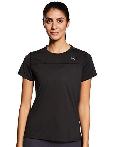 PUMA Damen T-Shirt S/S Tee W, Puma Black, M, 516673