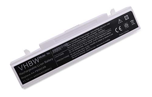 Batterie LI-ION 4400mAh 11.1V Blanc Compatible pour Samsung Q318, R468, R710, NP-R519, NP-R530, NP-R540, NP-RF510 etc. remplace AA-PB9NC6B