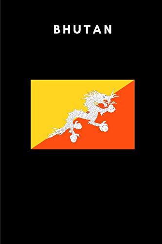 Bhutan: Country Flag A5 Notebook (6 x 9 in) to write in with 120 pages White Paper Journal / Planner / Notepad