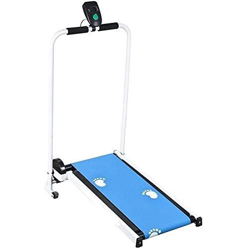 Yangyang Mini mecánica Cinta de Correr Plegable, Manual de Funcionamiento Automático Máquina de Fitness Que Recorre por un Gimnasio en Casa Ejercicio,Azul