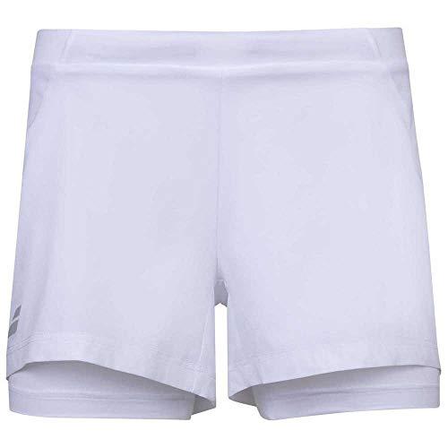 Babolat Girl's Exercise Tennis Shorts, White/White (US Youth Size 8-10)