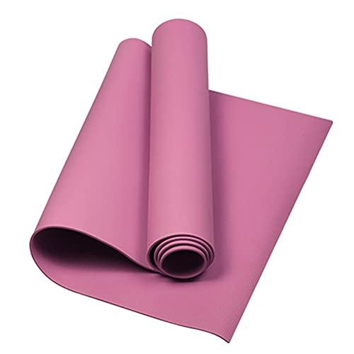 YQK Stuoia di Yoga, Moda Stuoia Yoga Tappetino 173x60x0.4cm Mat Antiscivolo Dimagrante Esercizio Fitness Gymnastics Mat Body Building Pilates (Color : Pink)