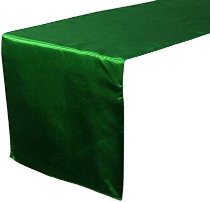 10 Pc 12 x 108 inch Long Charmeuse Satin Table Runners Bright Shiny Satin Silk and Smooth Fabric product image