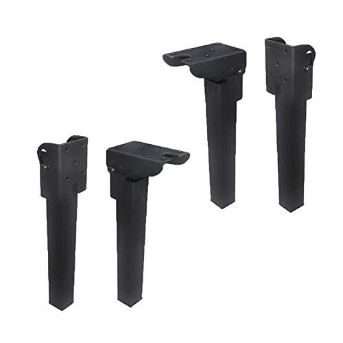 XBSXP Möbelbeine stützenFuß, Multifunktionaler Klapprahmen Schwarze Beine Klapptisch Beinhalterung Esstisch Computertisch Möbelfüße (4er Pack),26.5cm
