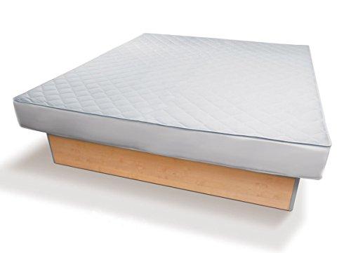 Traumreiter Matratzen-Auflage 200x200 mit Spannumrandung und Reißverschluss   Höhe bis 35cm   Schonauflage Matratzenbezug für Boxspring-Betten & Wasserbetten   Schonbezug