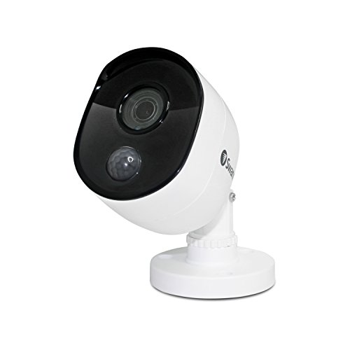 Swann Indoor/Outdoor Home Security Camera, 1080p PIR Bullet Cam, Infrared Night Vision, Thermal Heat Sensing, BNC Wired Add to DVR, SWPRO-1080MSB, 1080p Bullet Security Camera (SWPRO-1080MSB-US)