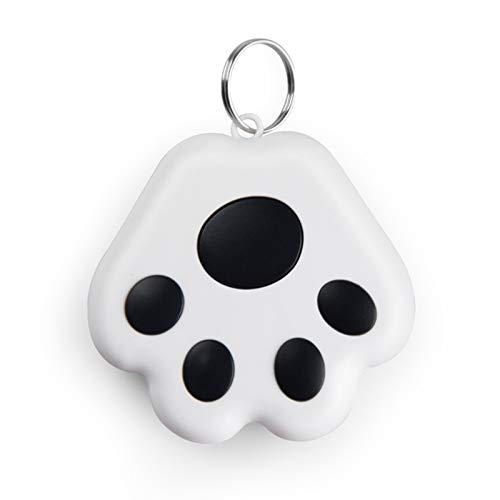 WLPTION Buscador de llaves, buscadores de objetos de teléfono y cartera, lindo perro huella Bluetooth inteligente rastreador de equipaje rastreador anti pérdida