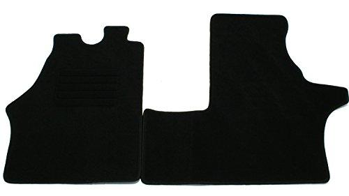 AD Tuning GmbH & Co. KG Terciopelo Ajuste fuàÿ Negro Auto Juego de Alfombrillas para alfombras Alfombras Carpet Floor Mats