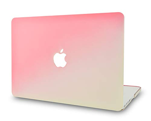 "KECC Laptop Case for Old MacBook Pro 13"" Retina (-2015) Plastic Hard Shell Cover A1502 / A1425 (Pink Cream)"