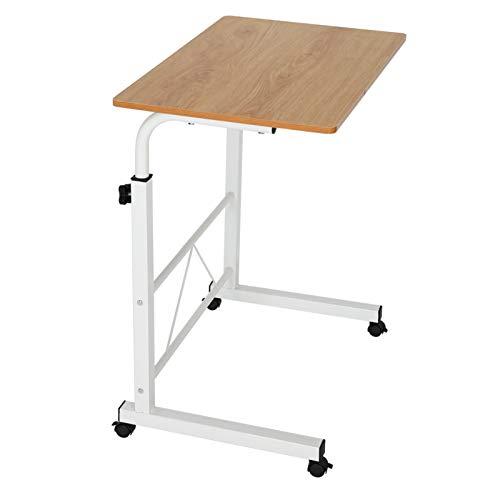 Queiting Computer Schreibtisch Laptop Schreibtisch Höhe Höhenverstellbarer Pc Schreibtisch Mit Rolle Beweglicher Beistelltisch Pflegetisch Home Bedside Laptop Schreibtisch Gelb