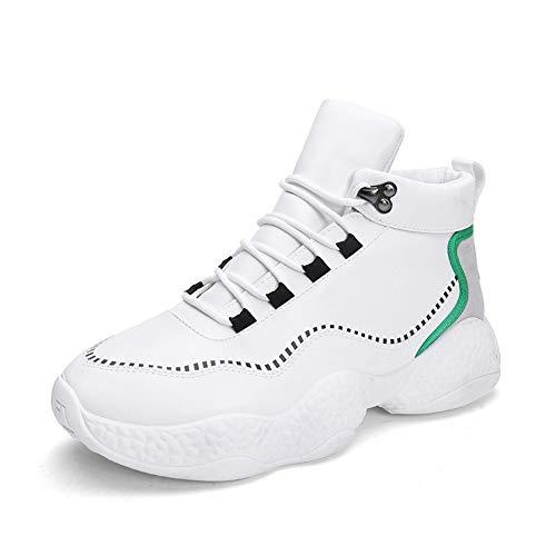 LFEU Männer Basketball-Schuhe High-Top Wasserdichtigkeit Stealth Zunehmende Outdoor-Anti-Rutsch-Verschleißfestigkeit Herren Sportschuhe