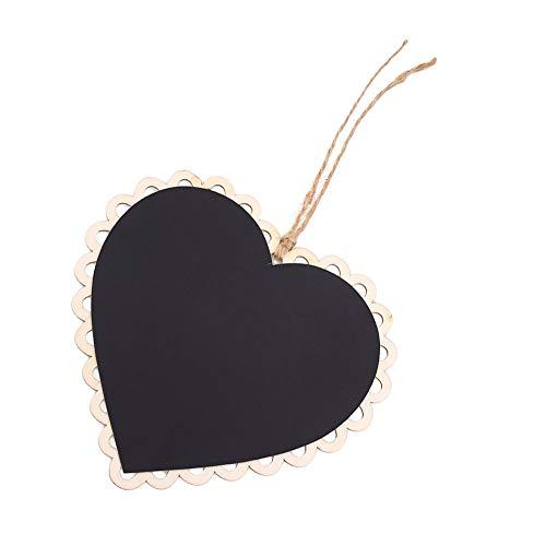Paomo - Mini lavagna, piccola lavagna per feste, matrimoni, numero di tabelle, 2 pezzi