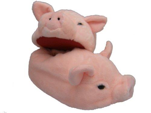 éS Plüsch Hausschuhe Schwein Größe S bis XL (L)