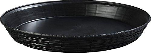 Carlisle 652603 WeaveWear Round Serving Basket, 12', Black (Pack of 12)